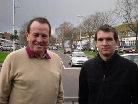 Jamie with Cllr James Walsh